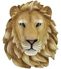gold lion statue faux taxidermy gold lion wall mount faux