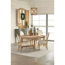 oval antique dining table with wheat finish by magnolia home by
