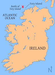 Florida Atlantic Coast Map by Map Of Ireland With Tory Island And The Battle Location Shown