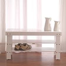 amazon com legacy decor 2 tiers wooden shoe bench rack in white