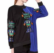 creative robot sweatshirt for girls pullover sweatshirts splice