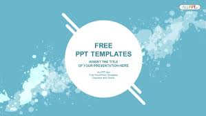Abstract Splashes Powerpoint Templates Ppt Tempelate