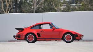 turbo porsche red 1987 porsche 911 turbo slantnose s130 monterey 2013