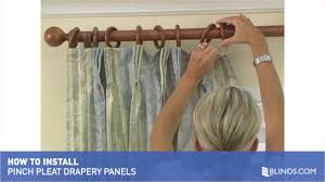 French Pleated Drapes How To Install Pinch Pleat Drapery Panels U0026raquo
