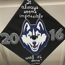 Cap Decorations For Graduation Uconn2016 Caps Off Uconn Years Uconn Today