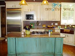 distressed island kitchen distressed turquoise kitchen island house ideas