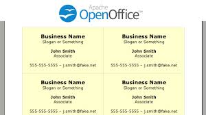 Writer Business Card Printing Business Cards In Openoffice Writer Youtube