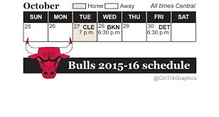 printable bulls schedule bulls 2015 16 schedule includes opener at home vs cavaliers