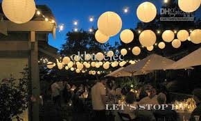 paper lanterns with lights for weddings 72x8 white paper lantern with 72white led light wedding party home