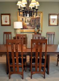Mission Style Wall Sconce Mission Style Dining Room Contemporary With Chairs Transitional