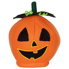 pumpkin mask for halloween amazon com beistle 00712 plush pumpkin head hat kitchen u0026 dining