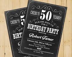 50th birthday invitation cheers to 50 years any age