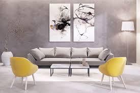 living room abstract matching set wall art nice floor lamp nice