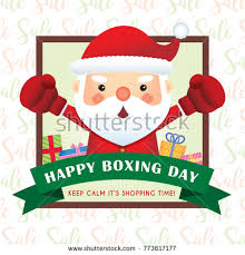merry christmas greetings cute cartoon santa stock vector