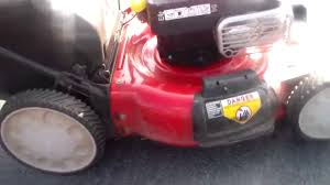 review troy bilt tb360 21 inch rwd lawn mower youtube