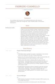 Account Manager Resume Sample by Product Marketing Manager Resume Samples Visualcv Resume Samples