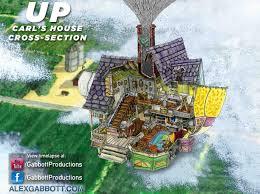 pixar u0027s up carl u0027s house cross section by gabbottproductions on