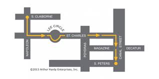 New Orleans Parade Routes Map by Parade Route