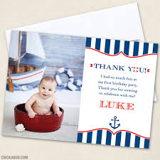 nautical thank you cards nautical party thank you cards