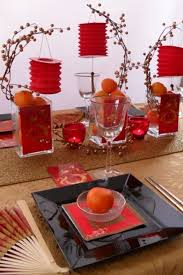 cny home decoration chinese new year black and red tablescape happy chinese new year