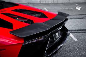 Lamborghini Aventador Black And Red - sr lamborghini aventador with custom paint job and awesome pur rims