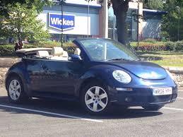 blue volkswagen beetle 2006 jun 06 volkswagen beetle 1 6 luna convertible 2 drs