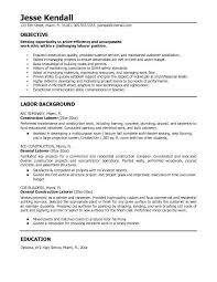 Sample Objective On Resume by 10 Self Employed Handyman Resume Riez Sample Resumes Resume