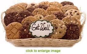 cookie gift basket get well soon gourmet cookie gift basket