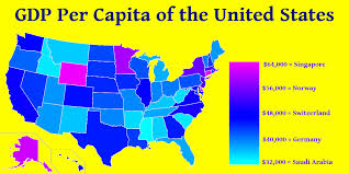 map us states world economies oc per capita of each us state with country comparisons