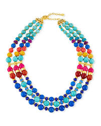 blue bead necklace images Multi strand necklace neiman marcus jpg