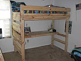 Diy Loft Bed With Desk Loft Bed Plans With Desk Design Decoration