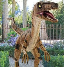 realistic velociraptor statue yes this falls something i