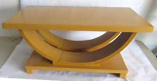 modernage american art deco streamline blond coffee table modernism