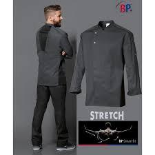veste cuisine veste de cuisine grise liberté de mouvement manches longues