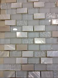 backsplash in kitchen tumbled travertine mother of pearl and glass tile looks better
