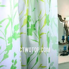 green waterproof leaf shabby chic modern cheap shower curtains