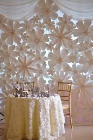 wedding backdrops with paper flowers paper flowers backdrop