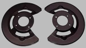 1966 mustang disc brakes front disc brake dust shields pair usa ne performance mustang
