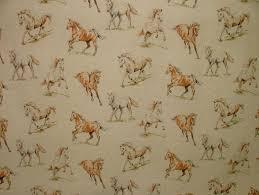 horses vintage linen look animal print designs curtain upholstery