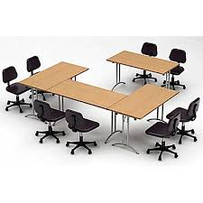 Team Tables Meeting Seminar 4 Piece Combo 10 U0027 Rectangular