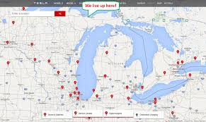 Tesla Supercharger Map Riding On The Wind Tesla