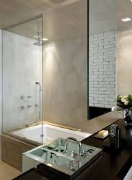 gray marble bathroom wall tile mirror without frame bathtub