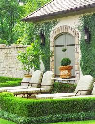 Italian Backyard Design by Herve Baume Seating Delany And Long Fabrics Paul Ferrante