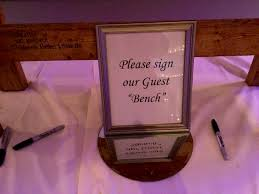 sweet 16 guest sign in book wedding guestbook dj idea bench sign thedjservice albany
