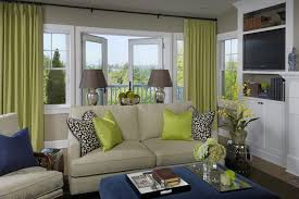 Beige And Green Curtains Decorating Chartreuse Sofa Design Ideas