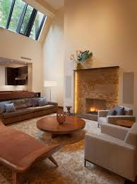 photos hgtv modern living room with stone fireplace and high