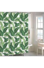 miami leaf shower curtain bachelorette pad main image destinations miami leaf shower curtain