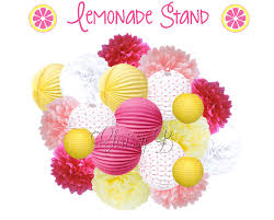 Pink And Yellow Birthday Decorations Pink And Yellow Giant Balloon Bouquet Pink Lemonade Theme Giant
