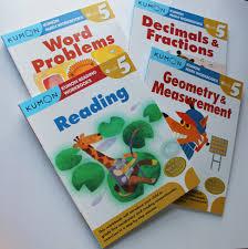 buy kumon grade 5 math verbal workbooks 4 books reading