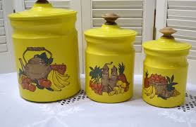 yellow kitchen canister set 1950 yellow canister set mint
